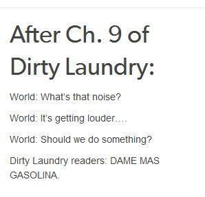 seriously, everyone has read dirty laundry
