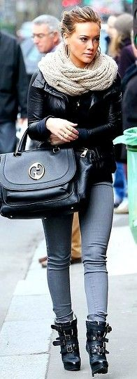 Hilary Duff - chic winter street style #fashion #celebrity