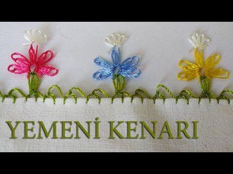 EV HANIMI # İğne Oyası: Kelebekli Yemeni Kenarı #29 - YouTube