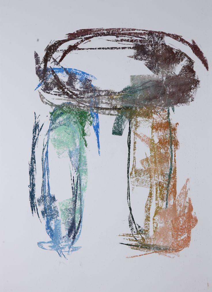 Michael Třeštík, Dolmen, 2016, pastel A1