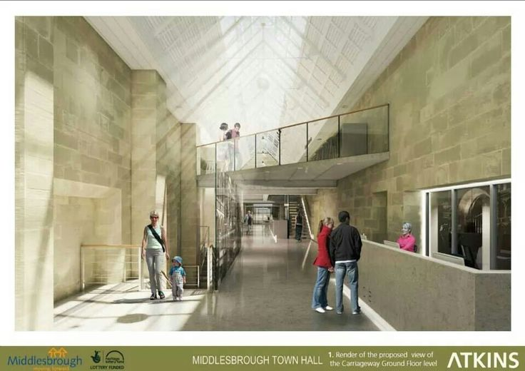 Proposed view of the Carriageway, Middlesbrough Town Hall