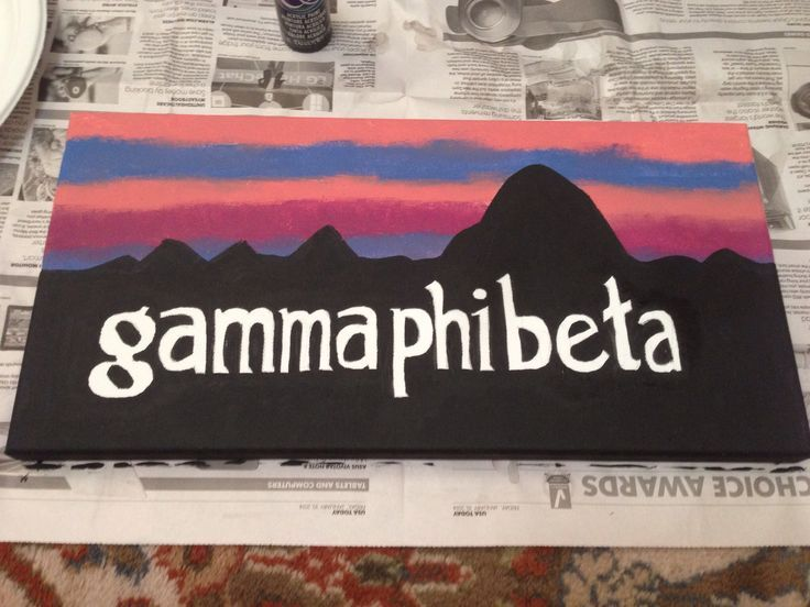Gamma Phi Beta Patagonia logo sorority canvas