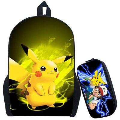 Pokemon Ash Ketchum Backpack For Teenagers Girls Boys School Bags Pikacun Children School Backpacks Pokeball Kids Best Gift Bag