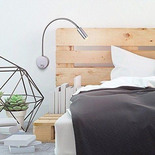 Bedside LED Light Reading Gooseneck Arm Reading Light 360-degree Wall Mounted #BedsideLEDLight