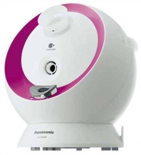 Panasonic Nanoe Nighttime Ion Steamer EH-SA44-P Pink (Japan Import) by Panasonic. $189.00. Nano-particle ion steam can deeply penetrate into the outer layer of skin. Night Steamer: 20mins of steam and aroma + 8hours of nano-e care. This product is for Japan Market. Manuals is in Japanese only. Panasonic's Nano-Care Nighttime Ion Steamer is a skincare solution utilizing nano-particle ion steam. It creates ion steam particles that are extremely small, thereby enabling the mo...