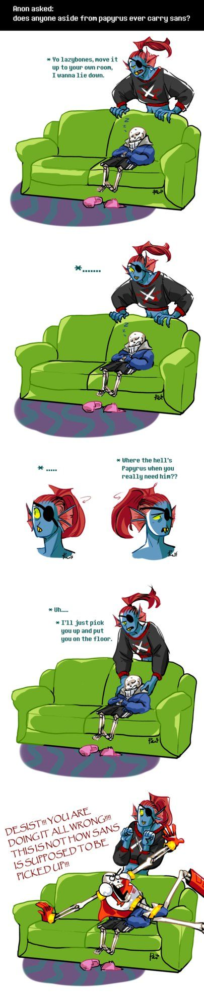 Undertale ask blog: Not everyone can do it ||| Undyne, Sans, and Papyrus ||| Undertale Fan Art by bPAVLICA on DeviantArt