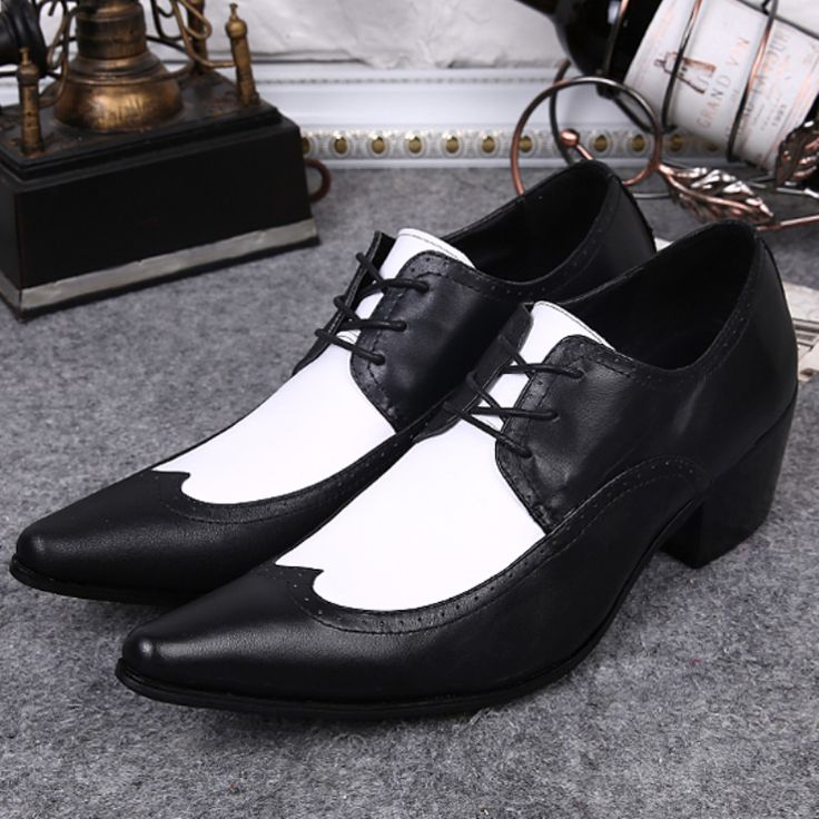 >> Click to Buy << 2017 New Fashion Black and White Wedding Shoes Men Brand Business Style Casual Pointed Toe Leather Shoes Plus Size 38-46 #Affiliate