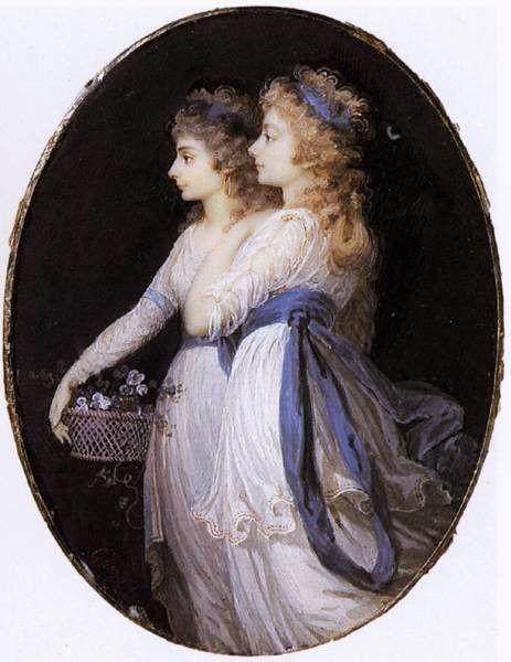 Georgiana, Duchess of Devonshire, with Lady Elizabeth ...