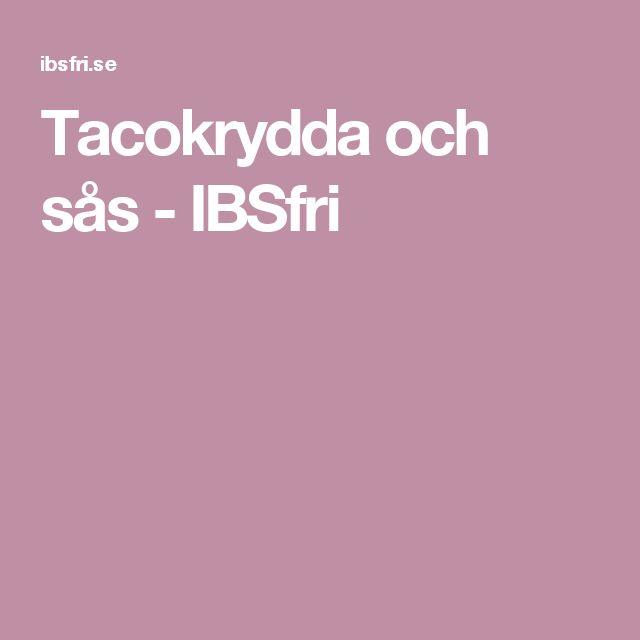 Tacokrydda och sås - IBSfri