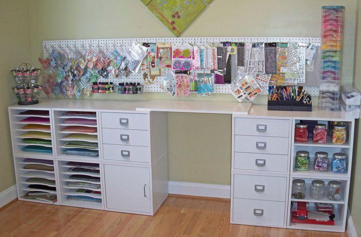 #papercraft #craftroom. Reorganized Scrapspace - Scrapbook.com