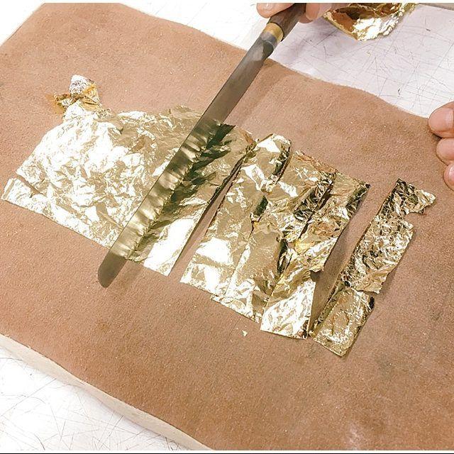 gold leaf - proces