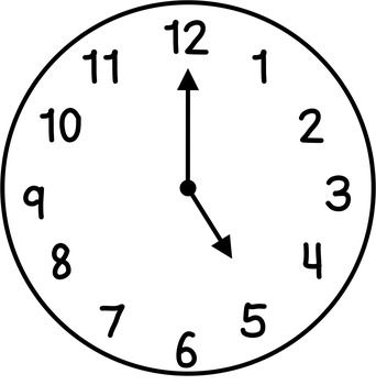 Clocks Clip Art: Hour & Half Hour | Clock, Clock face ...