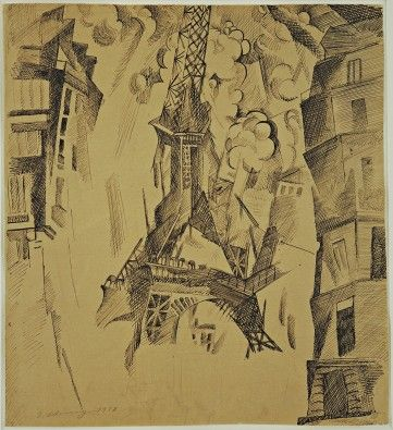 MoMA | Robert Delaunay. The Tower. 1911 (inscribed 1910)