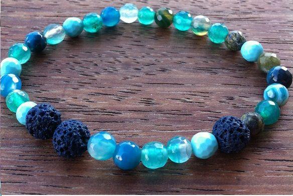 Antigua Bracelet by nunKi // Gemstone and Lava Beads // #Menswear #Bijutaria #Pulseira