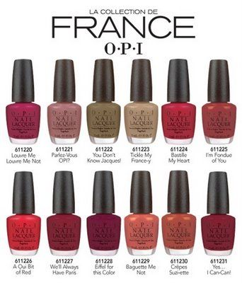 OPI France Collection, I <3 anything French!