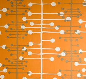 I want a big white book case so I can put this in the back. Muscat Orange Wallpaper