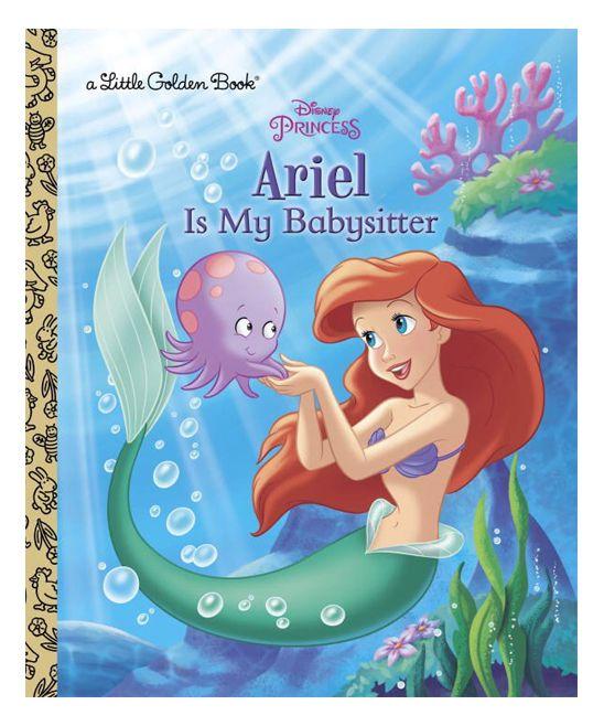 Ariel Is My Babysitter Little Golden Book Hardcover