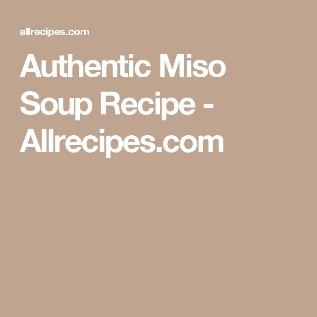 Authentic Miso Soup Recipe - Allrecipes.com