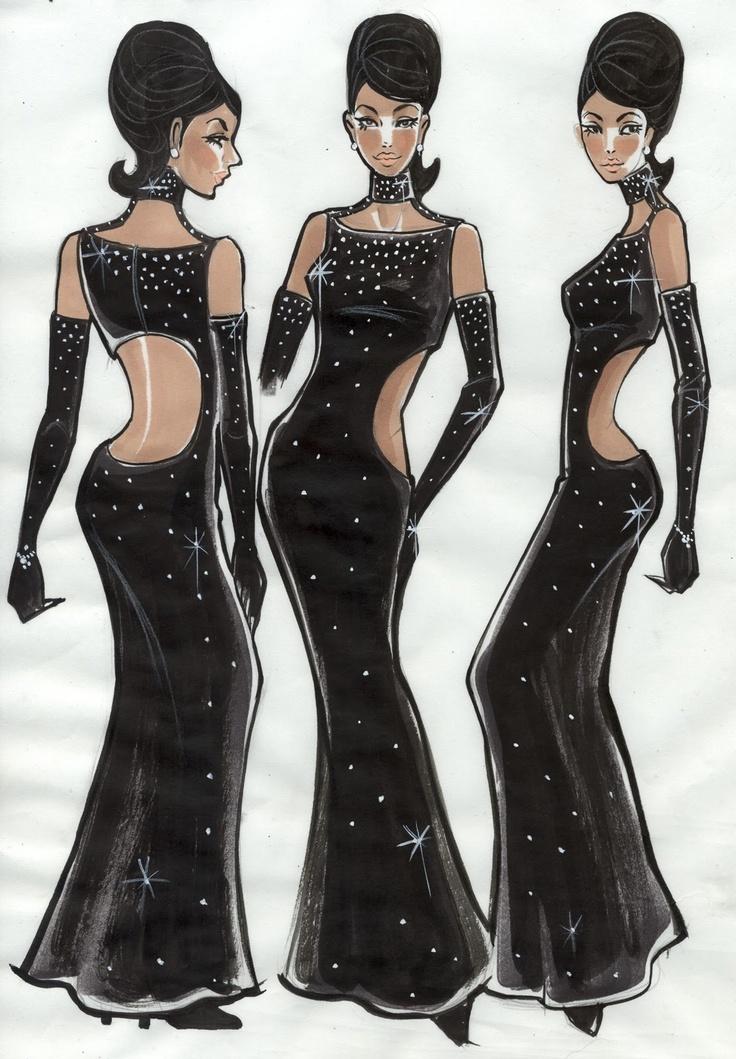 Sparkle 2012  Costume Designer : Ruth Carter Costume Illustrator : Chloe Ji Yoon