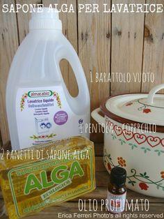 Casa e Donna: Sapone liquido (da panetto ALGA) per lavatrice fatto in casa