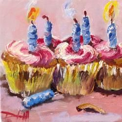 Art: Birthday Cupcakes No.3 by Artist Delilah Smith
