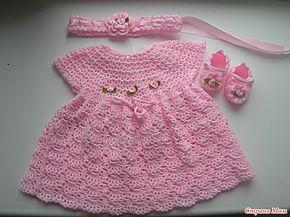 Croche pro Bebe: Vestidinho e sapatinho em croche