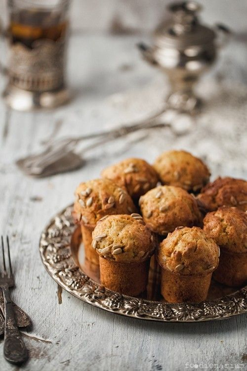 MUFFINS DE ZANAHORIA Y PIPAS DE GIRASOL (Carrot Muffins with Sunflower Seeds)