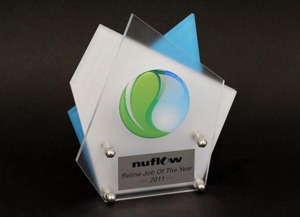 Nuflow Custom Design Trophy by Potato Press