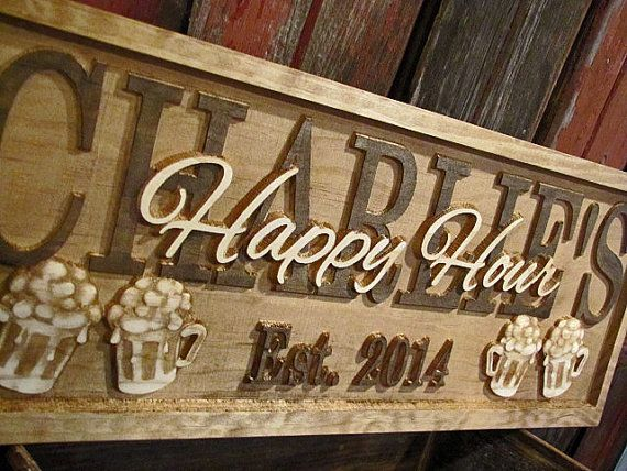 Personalized Man Cave Sign Custom Bar Signs Wood by Lovejoystore