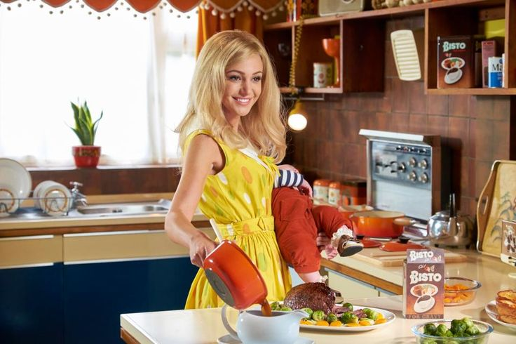 Blonde-haired Michelle Keegan plays the doting wife in episode two of new drama Tina and Bobby
