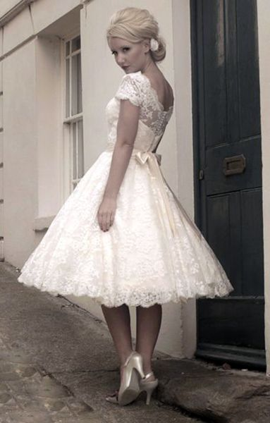 Fashion Pick of the Month: 50's Inspired Short Wedding Dress. For more #wedding inspiration, follow us at https://facebook.com/thewedco or visit us at http://www.theweddingcompany.ie