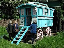 Roald Dahl's gypsy wagon. He wrote many children's stories, mystery stories, screenplays (like James Bond movie). Married to Actress Patricia Neal