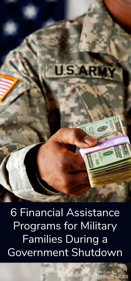 Government Shutdown got you down? Check out these six financial assistance programs that are waiting and ready to help military families!