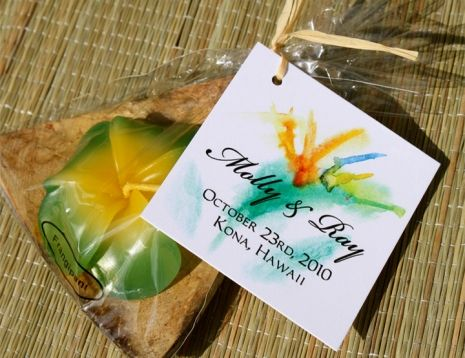 Dreamy, vibrant favor tags from Designs By Lenila... The perfect, tropical touch for your wedding guests! To view more designs from our favor tag collection, visit http://www.designsbylenila.com/product/favor-tags!