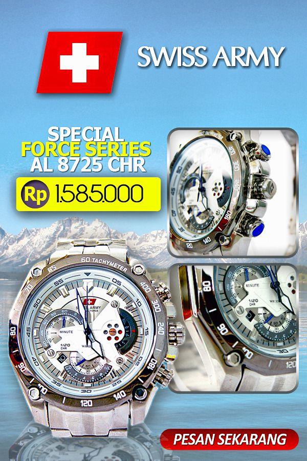 Swiss Army Men's Sport SA AL 8725 CHR [Limited Edition] memiliki ketahanan di dalam air & jam ini juga mempunyai berbagai macam fitur seperti dapat menentukan penghitungan tanggal & hari sehingga akan membantu Anda dalam mengingat tanggal saat beraktifitas. Diameter jam tangan ini hanya 3,5cm & beratnya hanya 0,9kg sangat nyaman saat digunakan . Jam ini menggunakan Cronograph Function. #toko belanja online fashion #toko online fashion #jam tangan #jam swiss army