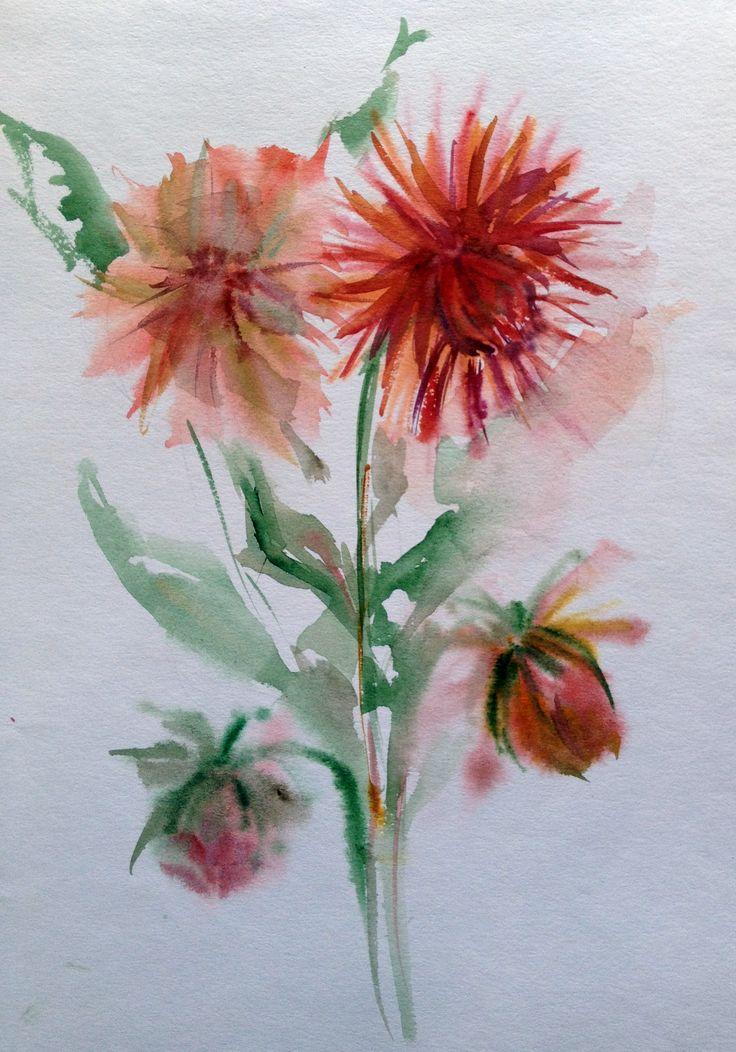 Flowers. Watercolor