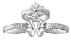 Girls Christian Purity Ring in Sterling Silver - Purity Petals