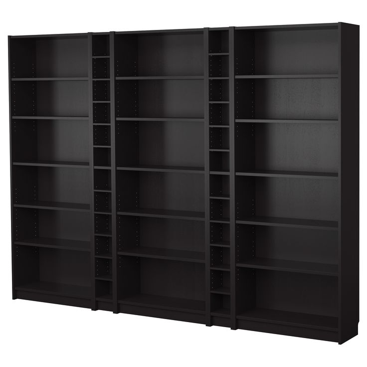 BILLY Bookcase combination - black-brown - IKEA