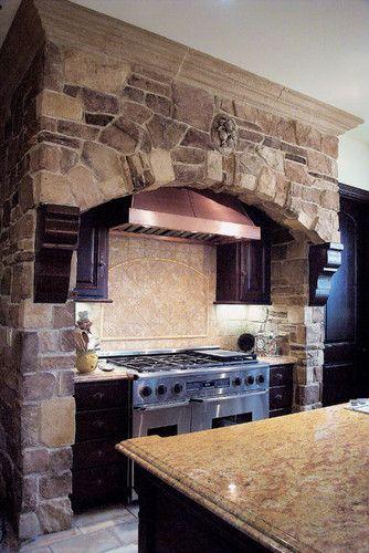 Tuscan Villa Stone Veneer Kitchen - Coronado Stone Veneer mediterranean kitchen