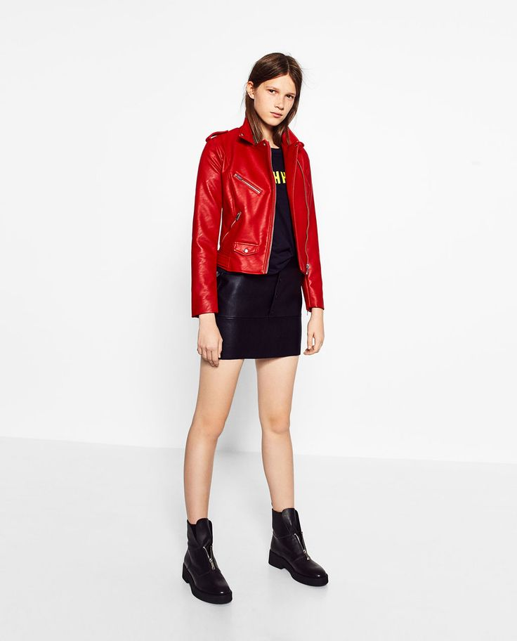 Biker jacket by Zara. Red would be awesome...or blue