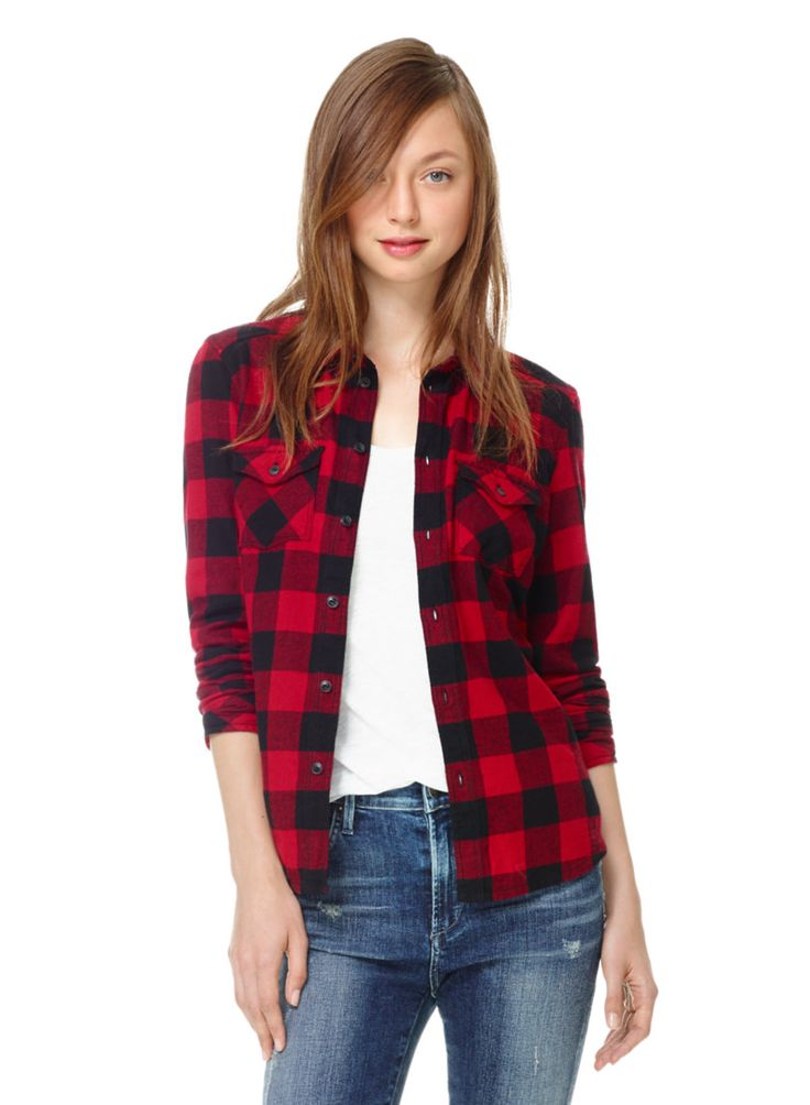TNA BANFF SHIRT - Lightweight brushed flannel in exclusive, custom-designed plaid patterns size SMALL