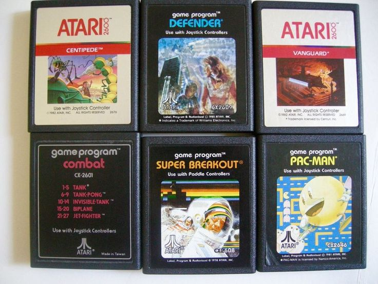 Centipede 1982. 6 Games Atari System. Super Breakout 1978. Vanguard 1982. Defender 1981. | eBay!