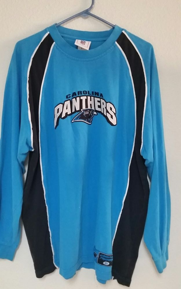 Carolina Panthers NFL Apparel Mens Shirt XL Long Sleeve Great Condition see pics #NFL #CarolinaPanthers