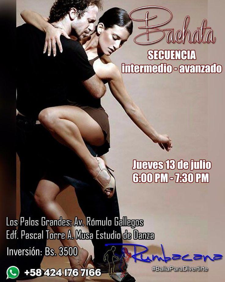Este jueves 13 de julio clase de bachata sensual ABIERTA PARA TODO PÚBLICO Secuencia intermedio - avanzado Inversión Bs 3500 por persona. Invita un amigo al #SanoVicioDeBailar Somos @Rumbacana #BailaParaDivertirte  Un grupo de amigos con una pasión: #Bailar y una vocación: #Enseñar #Academia #Baile #Bailar #Dance #Dancing #Colombia #Venezuela #Caracas #Guatire #Guarenas #SanCristobal #Armenia #Bogota #Cali #Cucuta #Medellin