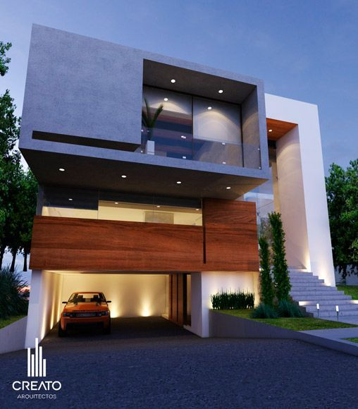 112 best images about fachadas de casas modernas on for Arquitectura moderna casas