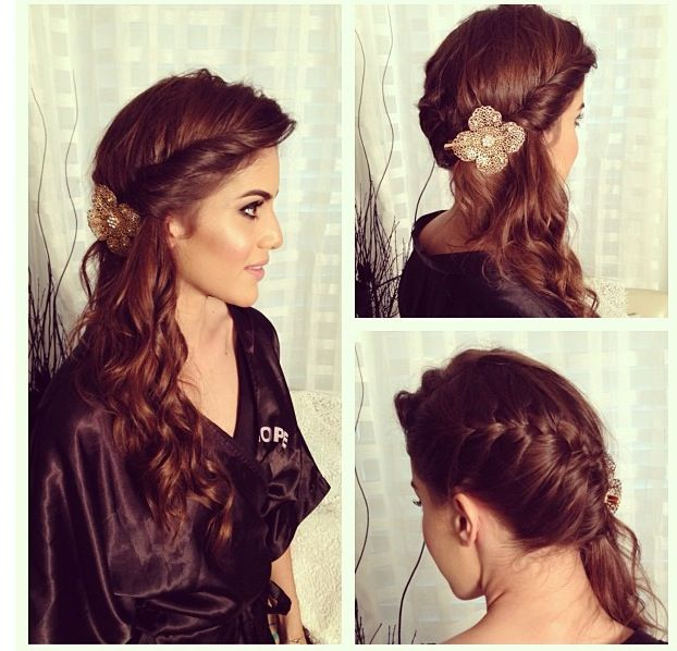 Obsessed with this hairdo! Wedding hair, party hair...perfect