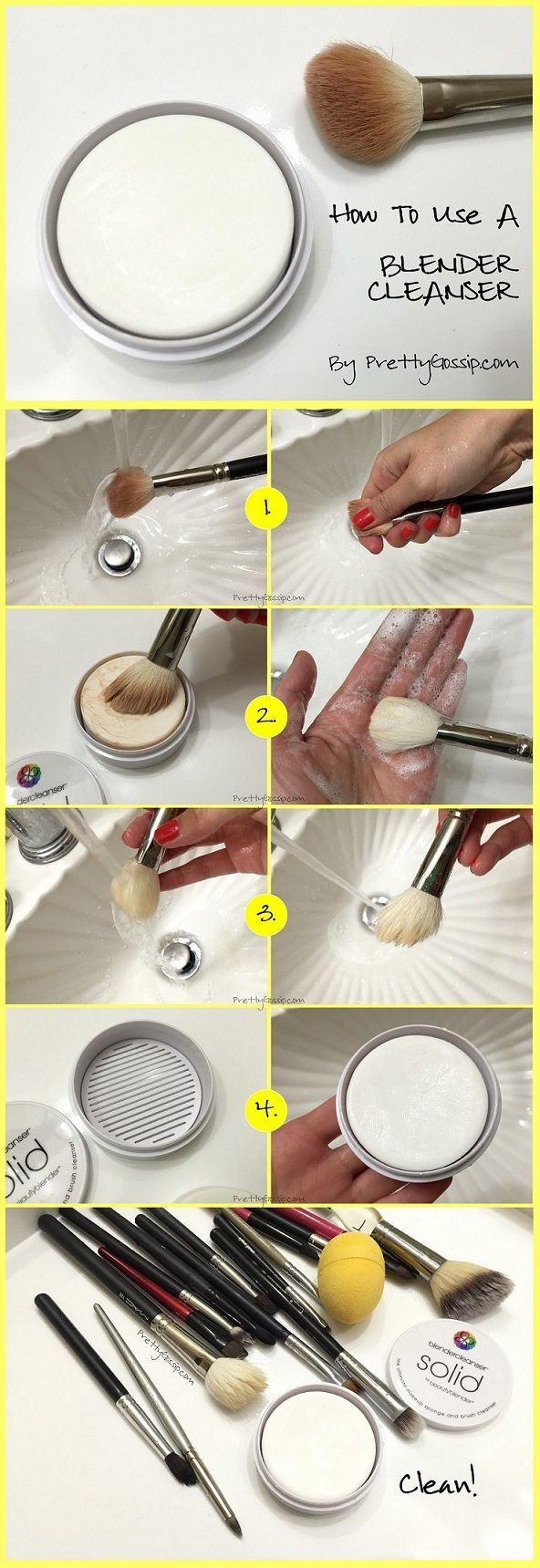How to use a SOLID Blender Cleanser for Makeup Sponges! #prettygossip #beautyblender