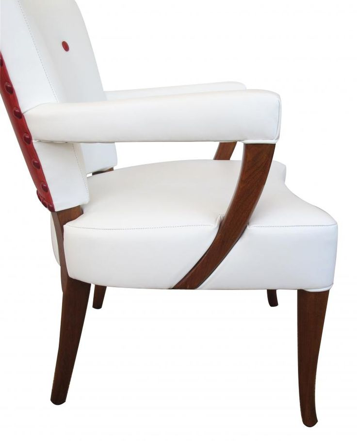 Stow And Davis Furniture Co.   A Stylish Set Of 4 American White And Red