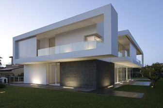 fachadas de casas modernas en esquina | inspiración de diseño de interiores