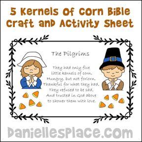 Kernels Of Corn Craft For Sunday School